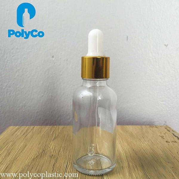 Bottle of serum 50ml transparent color