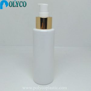 100ml plastic bottle with cheap yellow plastic cap