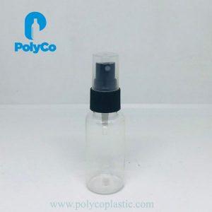 Botella de plástico de 30 ml con atomizador