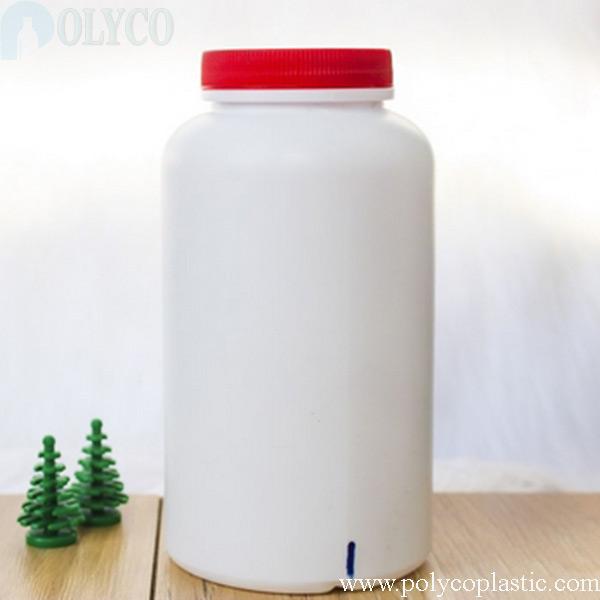 White 1000ml HDPE plastic bottle