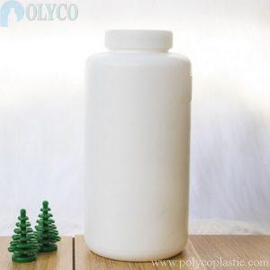 White 750ml HDPE plastic bottle