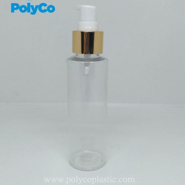 Suministro de botella de plástico PET amarillo de 100 ml