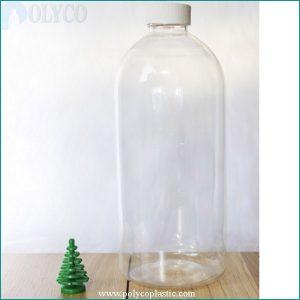 750ml transparent plastic bottle, premium PET plastic bottle