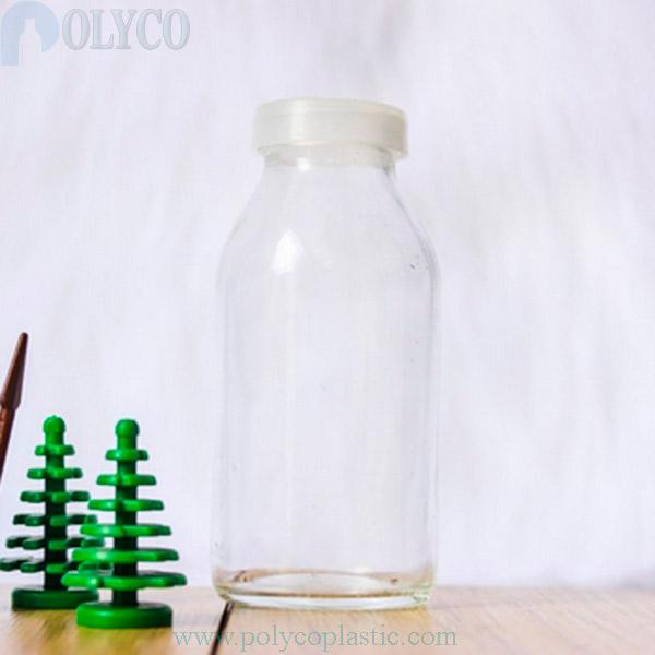 100ml glass bottle, high quality round glass bottle