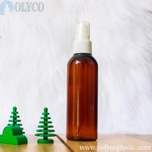 100ml brown mist spray bottle