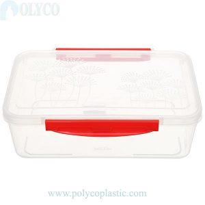 Caja de plástico rectangular transparente de 1,6 litros