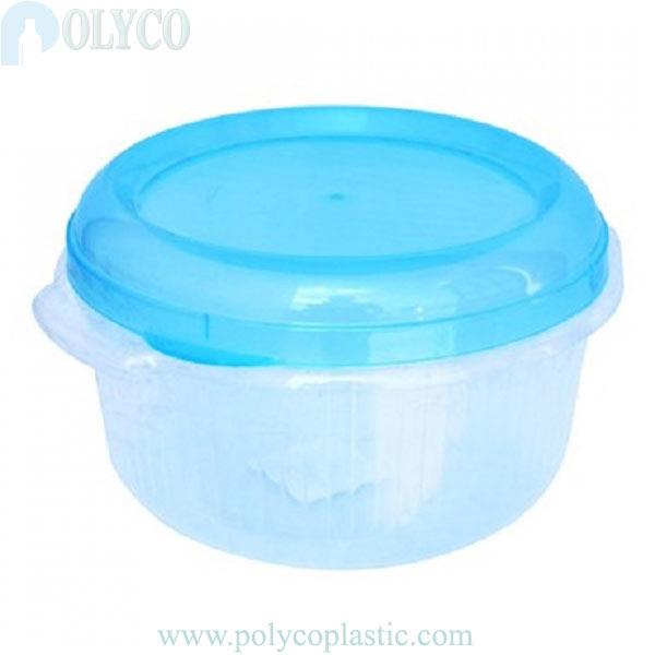Beautiful 900ml round plastic box, cheap PP plastic box