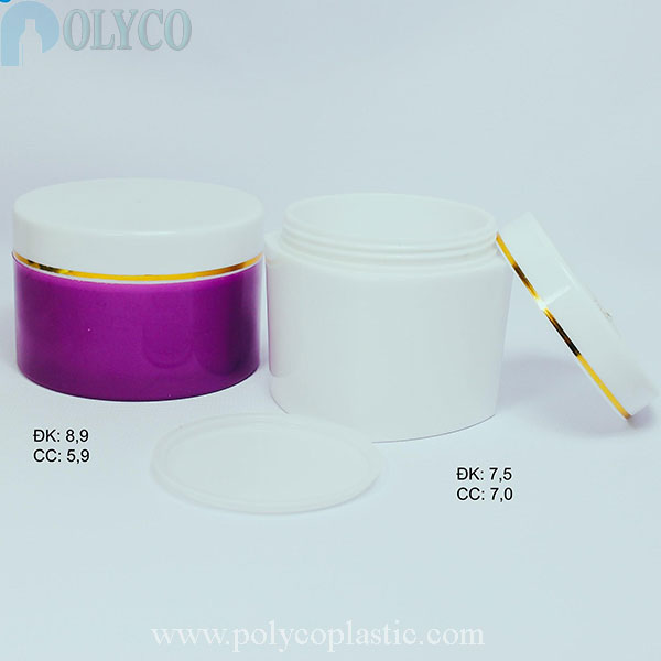 High quality purple body cream jar