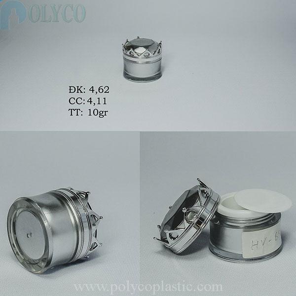 High-end crown-shaped cosmetic jar