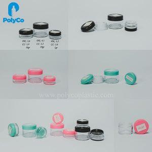Tarro cosmético de plástico de 5 ml