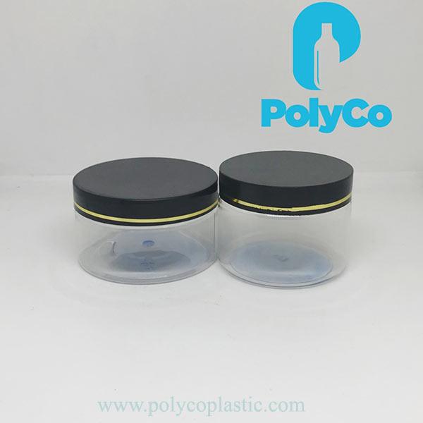 High quality 200ml PET plastic jar