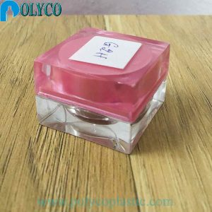 Tarro de plástico cuadrado de 5gr barato, proporciona un bonito tarro de plástico