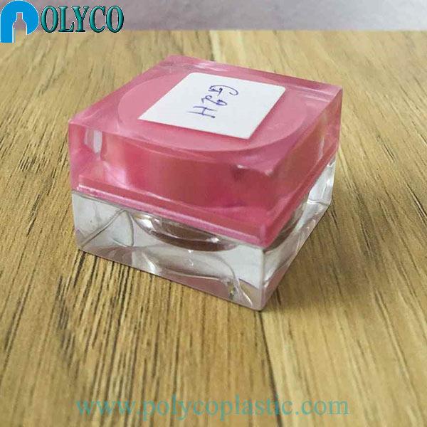 Cheap 5g square plastic jar, beautiful plastic jar