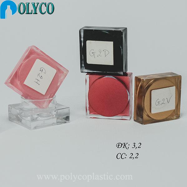 Square 5ml plastic jar is beautiful, providing cheap plastic jar