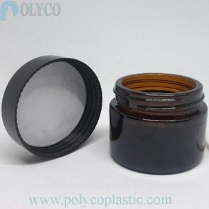 Brown glass jar for cosmetic