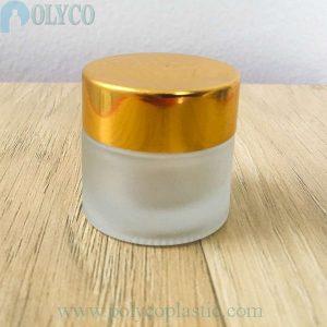 Frasco de vidrio redondo de 5ml que contiene cosmética de alta calidad