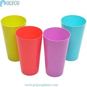 Gobelet en plastique dur coloré de 500 ml