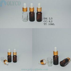 10ml brown essential oil bottle