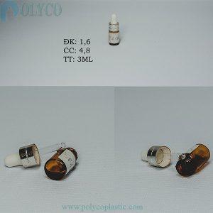 3ml essential oil bottle, 3ml round glass bottle