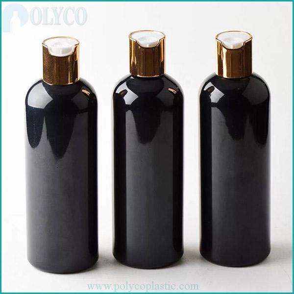 Plastic bottle for brown shampoo