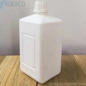 500ml square HDPE plastic bottle