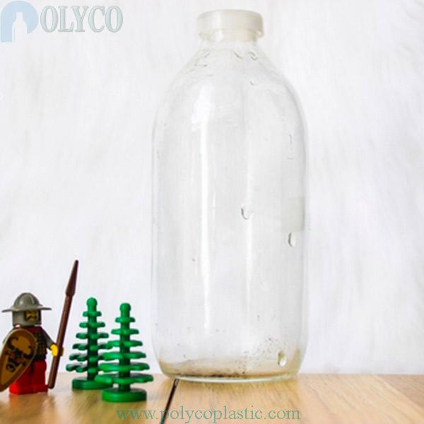 500ml transparent glass bottle