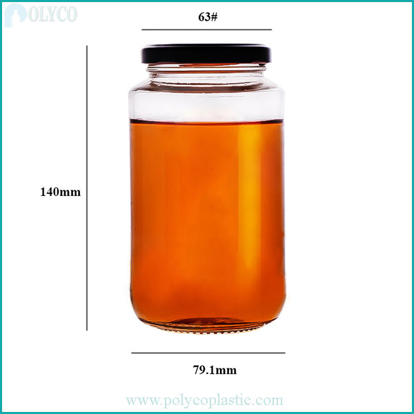 500ml glass bottle for beautiful food