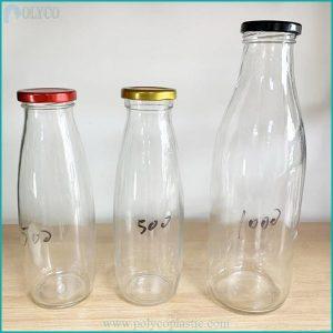 500ml metal cap glass bottle