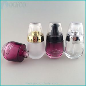 Dropper glass bottle for high-end cosmetics