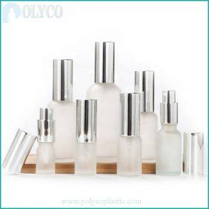 Premium translucent white glass bottle