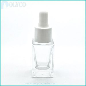 15ml square glass bottle containing essential oils