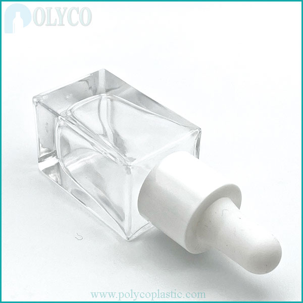 15ml square glass bottle of essential oil