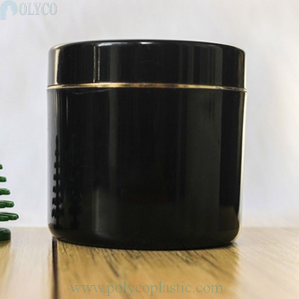 Black 100gr body cream jar