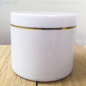 White 250gr body cream jar
