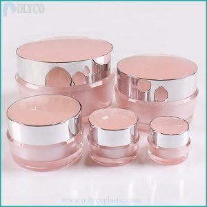 Plastic jar for high-end pink cosmetics