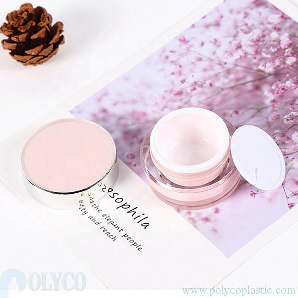 High-quality plastic cosmetic jars