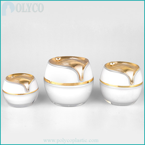 High quality pearl color cosmetic jar