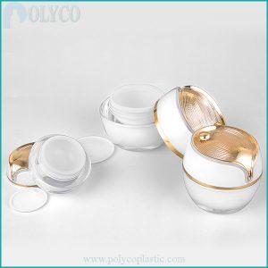Plastic jar for cheap pearl color cosmetics