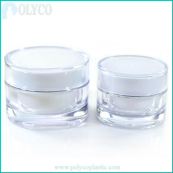 2-layer white cosmetic plastic jar