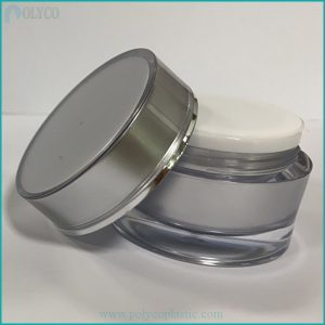 Gray 2-layer cosmetic bottle