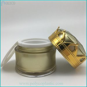 High-quality, crown-shaped cosmetic plastic jars