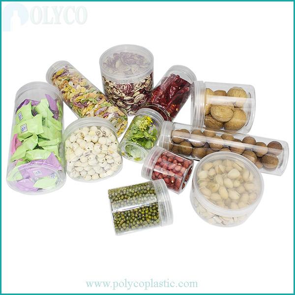 Transparent plastic food containers