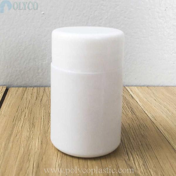 50ml HDPE plastic jar for medicine