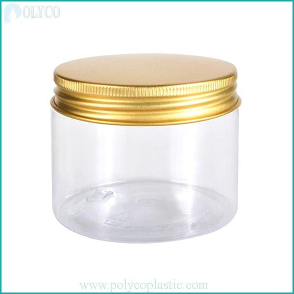 High-grade aluminum lid plastic jar, beautiful food plastic jar