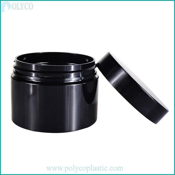 Plastic jar with high quality plastic lid