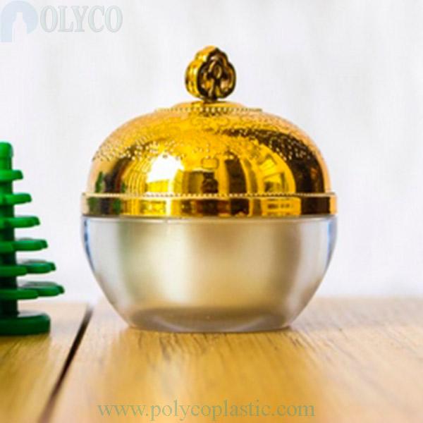 Round 20gr plastic jar with yellow screw cap