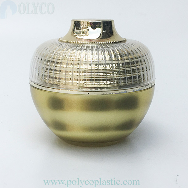 Round plastic jar 20gr silver white lid
