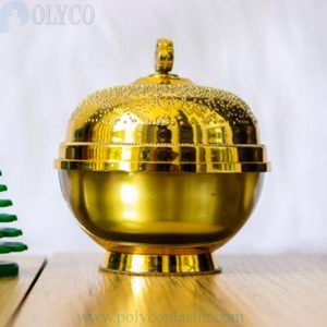 30gr yellow round plastic jar