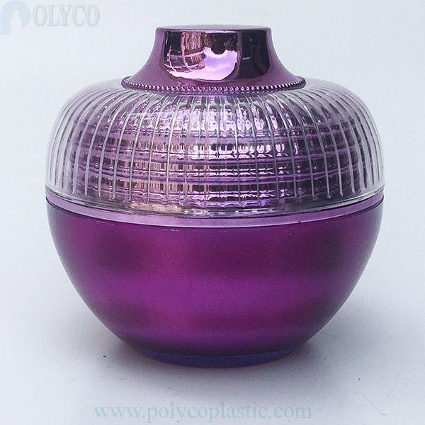 Round 30gr plastic jar, silver white lid
