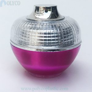 Round 6gr plastic jar with silver white cap